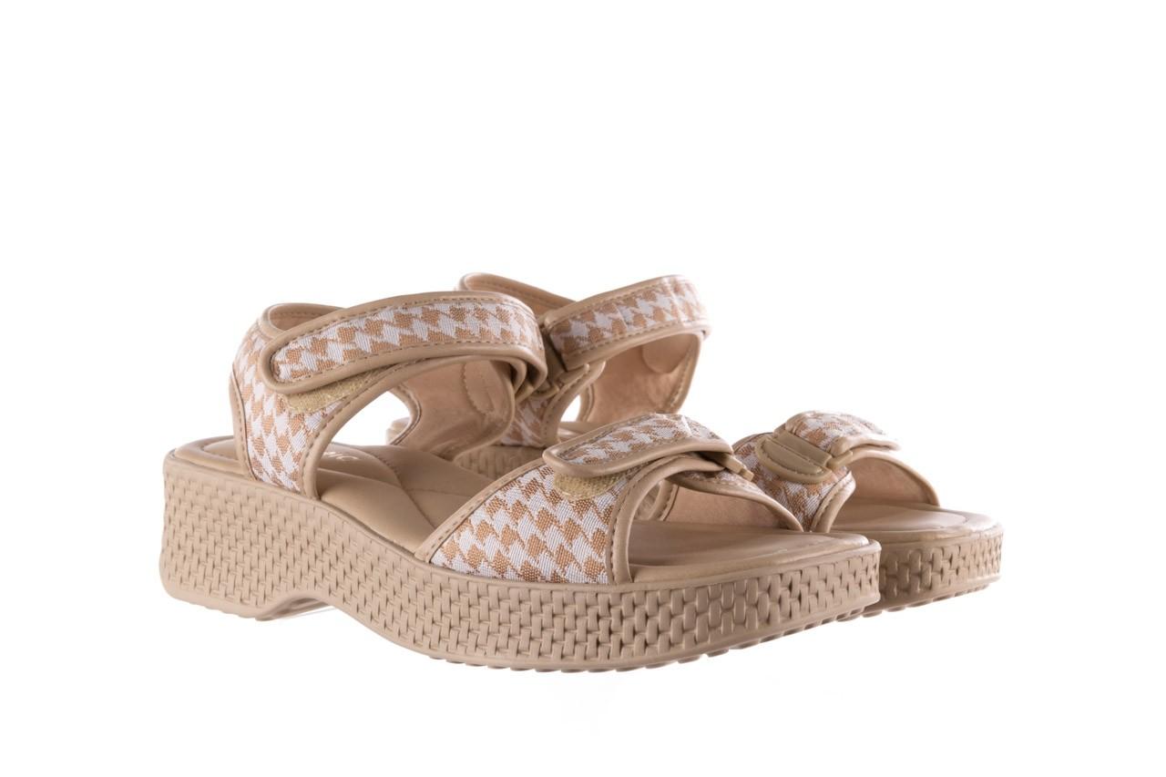 Sandały azaleia 321 293 beige plaid, beż/ biały, materiał - azaleia - nasze marki 8