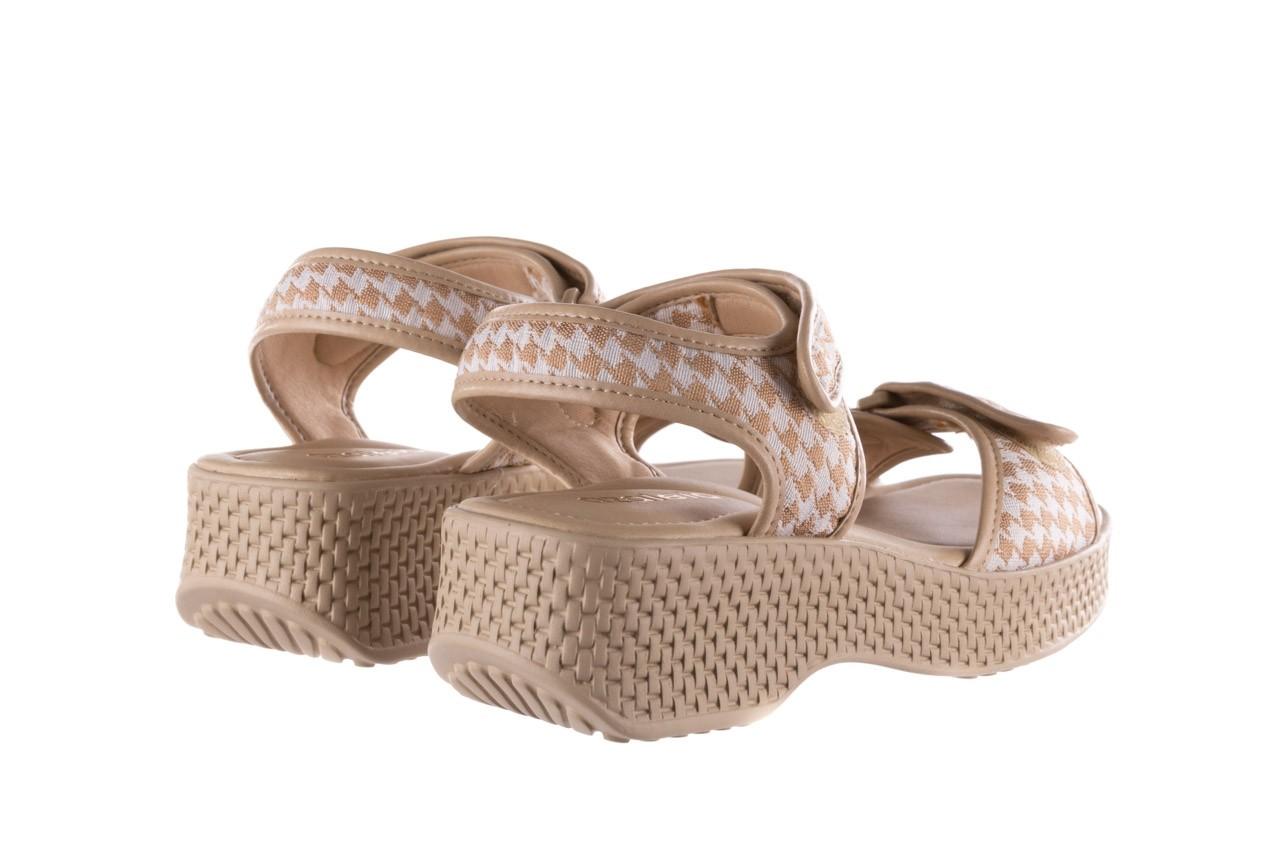 Sandały azaleia 321 293 beige plaid, beż/ biały, materiał - azaleia - nasze marki 10