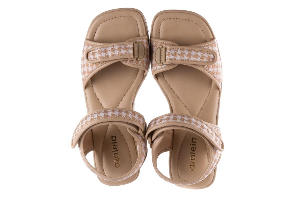 Sandały azaleia 321 293 beige plaid, beż/ biały, materiał - azaleia - nasze marki 11