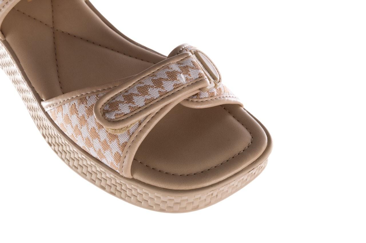 Sandały azaleia 321 293 beige plaid, beż/ biały, materiał - azaleia - nasze marki 12