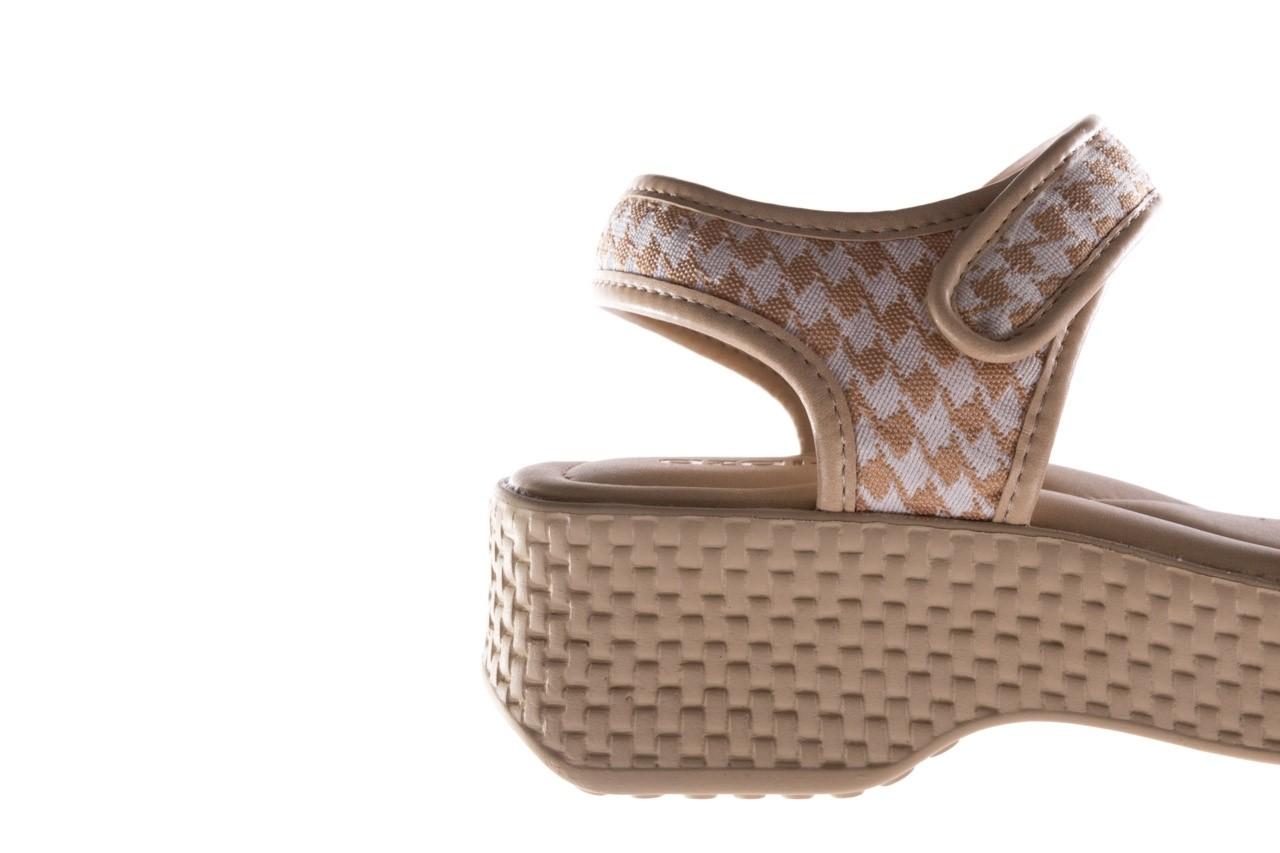 Sandały azaleia 321 293 beige plaid, beż/ biały, materiał - azaleia - nasze marki 13