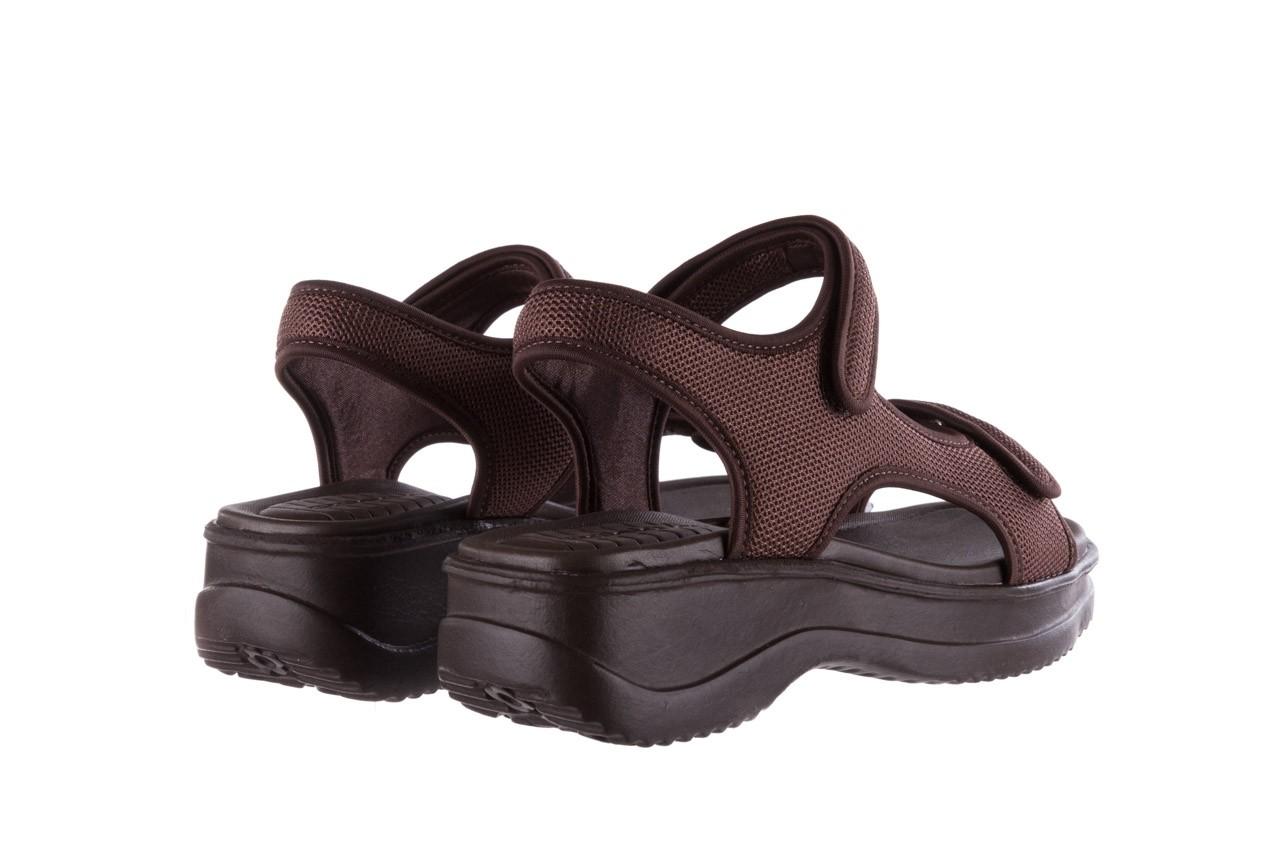 Sandały azaleia 320 323 brown 19, brąz, materiał 10