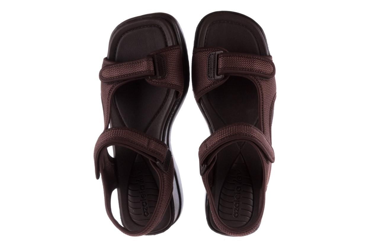 Sandały azaleia 320 323 brown 19, brąz, materiał 11