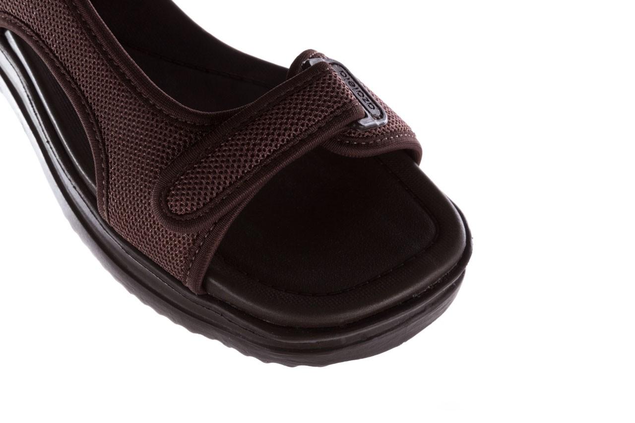 Sandały azaleia 320 323 brown 19, brąz, materiał 12