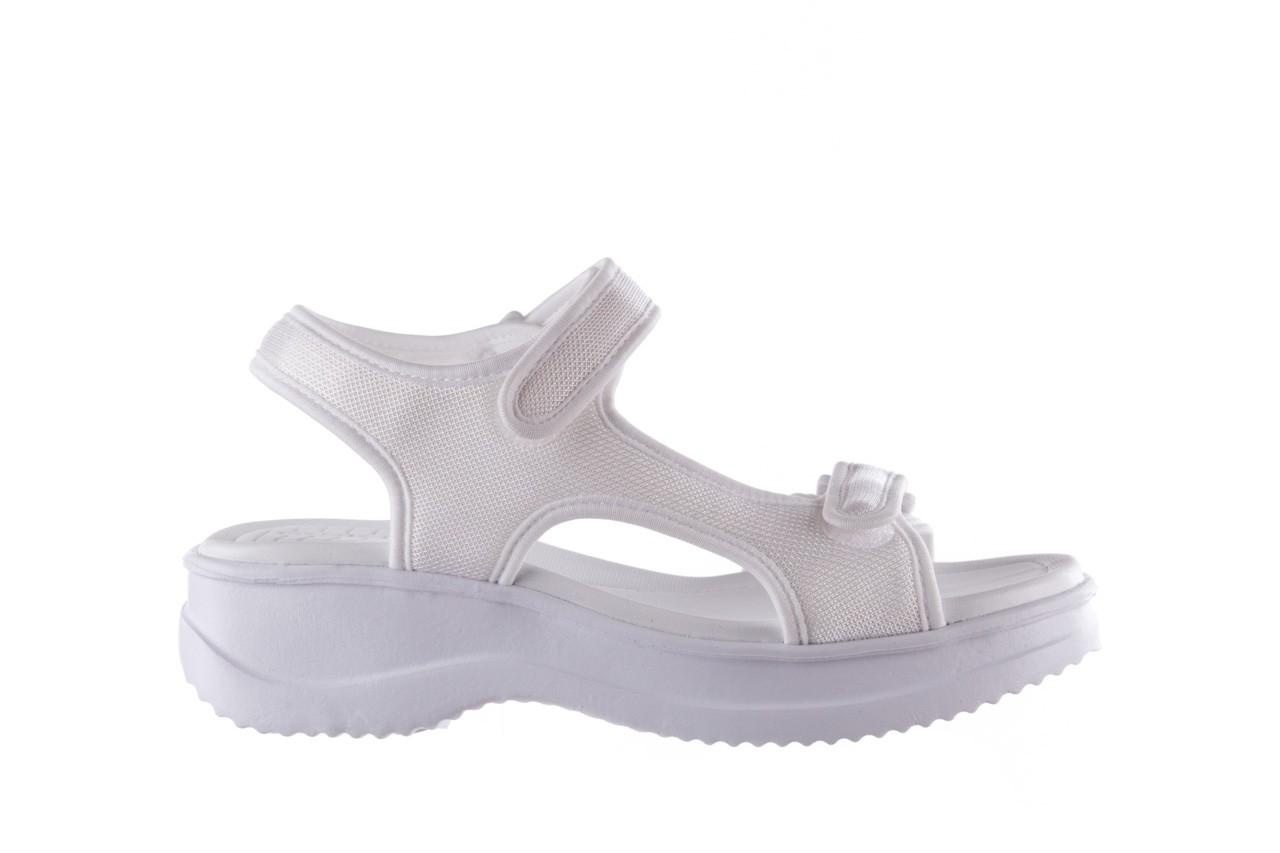 Sandały azaleia 320 323 white 20, białe, materiał - płaskie - sandały - buty damskie - kobieta 7