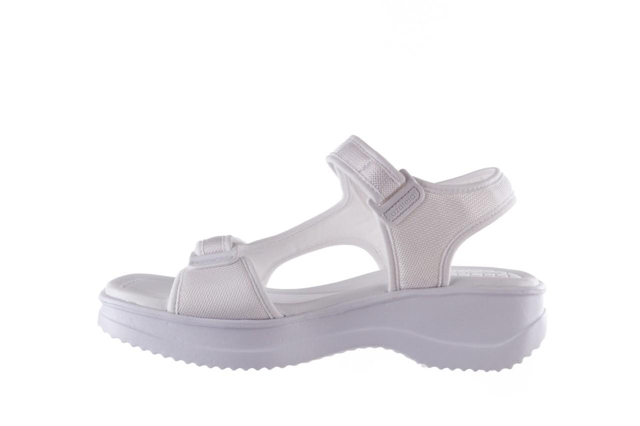 Sandały azaleia 320 323 white 20, białe, materiał - płaskie - sandały - buty damskie - kobieta 9