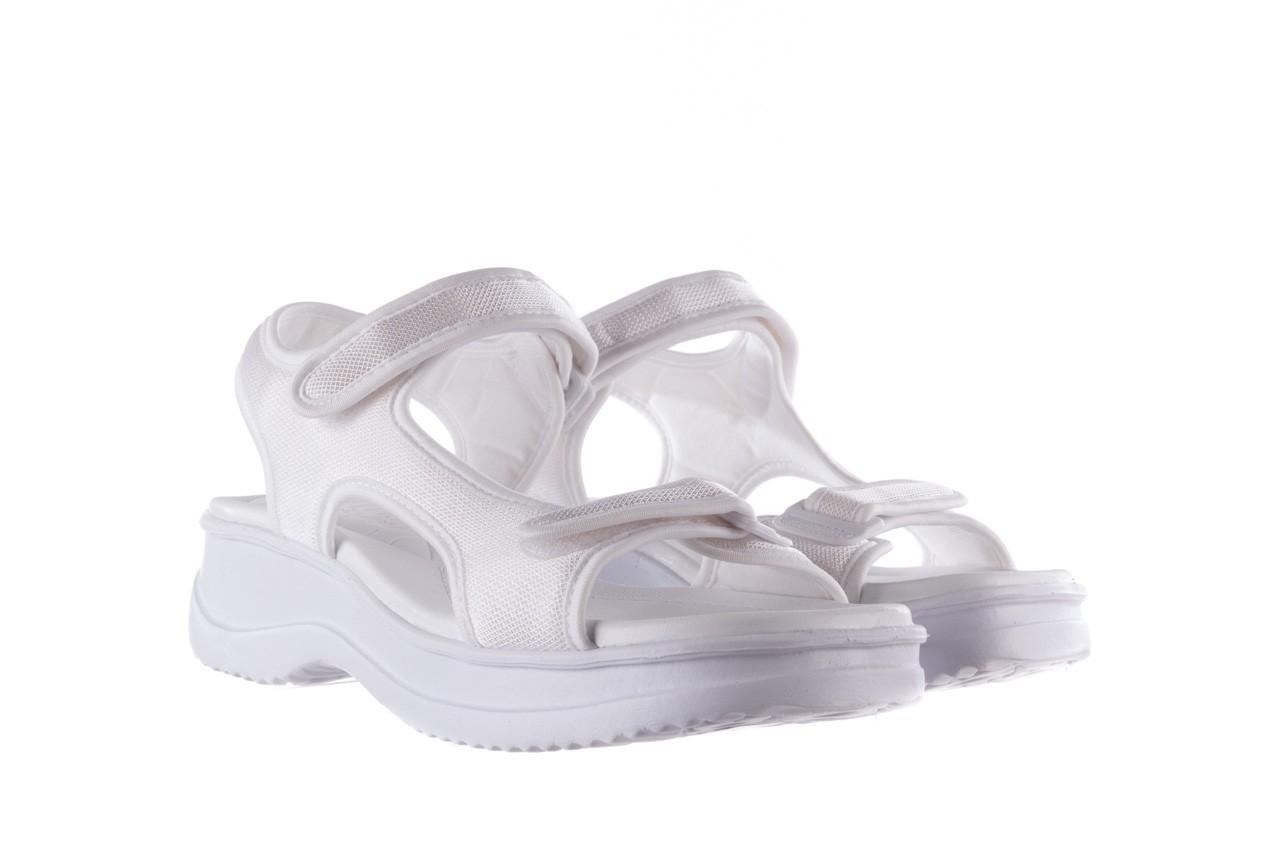 Sandały azaleia 320 323 white 20, białe, materiał - płaskie - sandały - buty damskie - kobieta 8