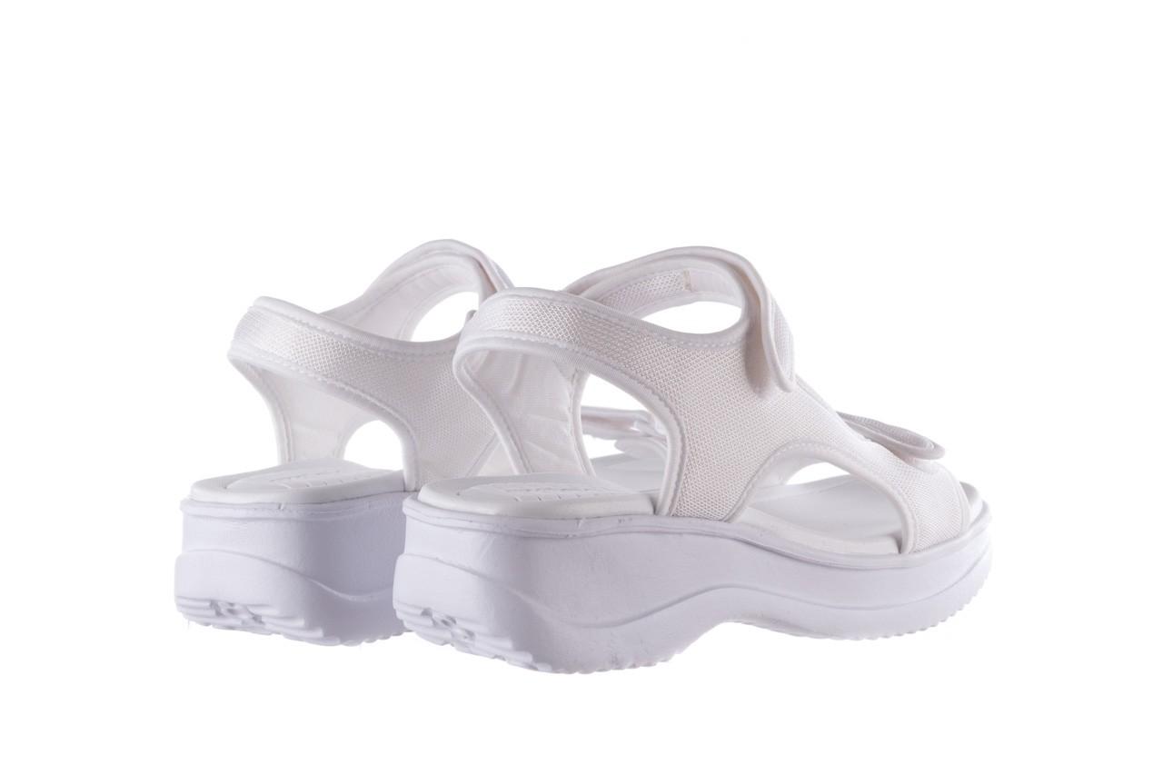 Sandały azaleia 320 323 white 20, białe, materiał - płaskie - sandały - buty damskie - kobieta 10