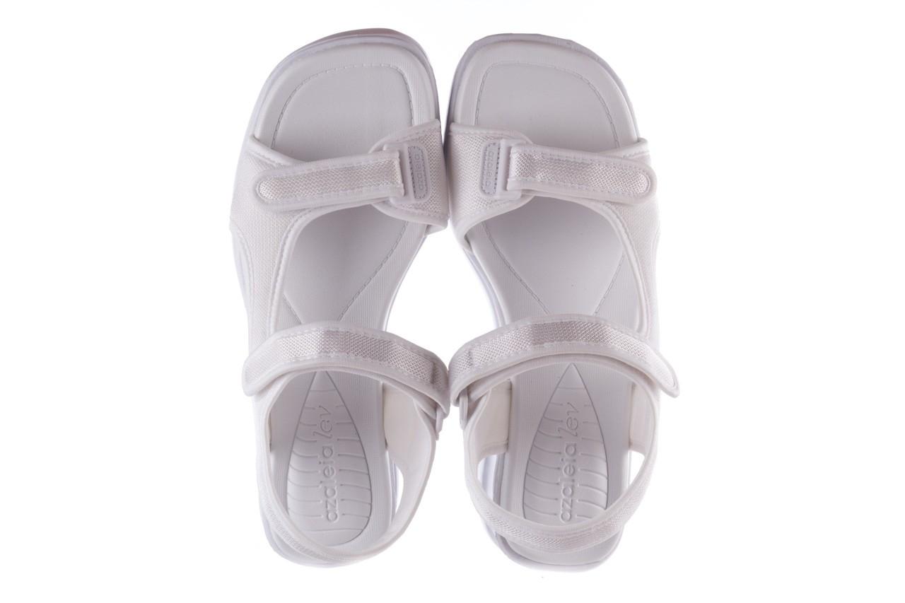 Sandały azaleia 320 323 white 20, białe, materiał - płaskie - sandały - buty damskie - kobieta 11