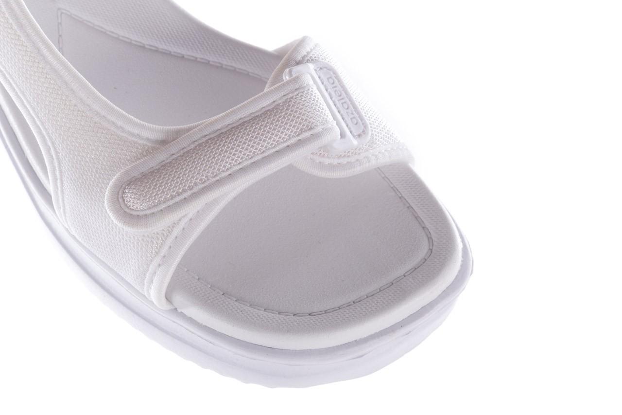 Sandały azaleia 320 323 white 20, białe, materiał - płaskie - sandały - buty damskie - kobieta 12