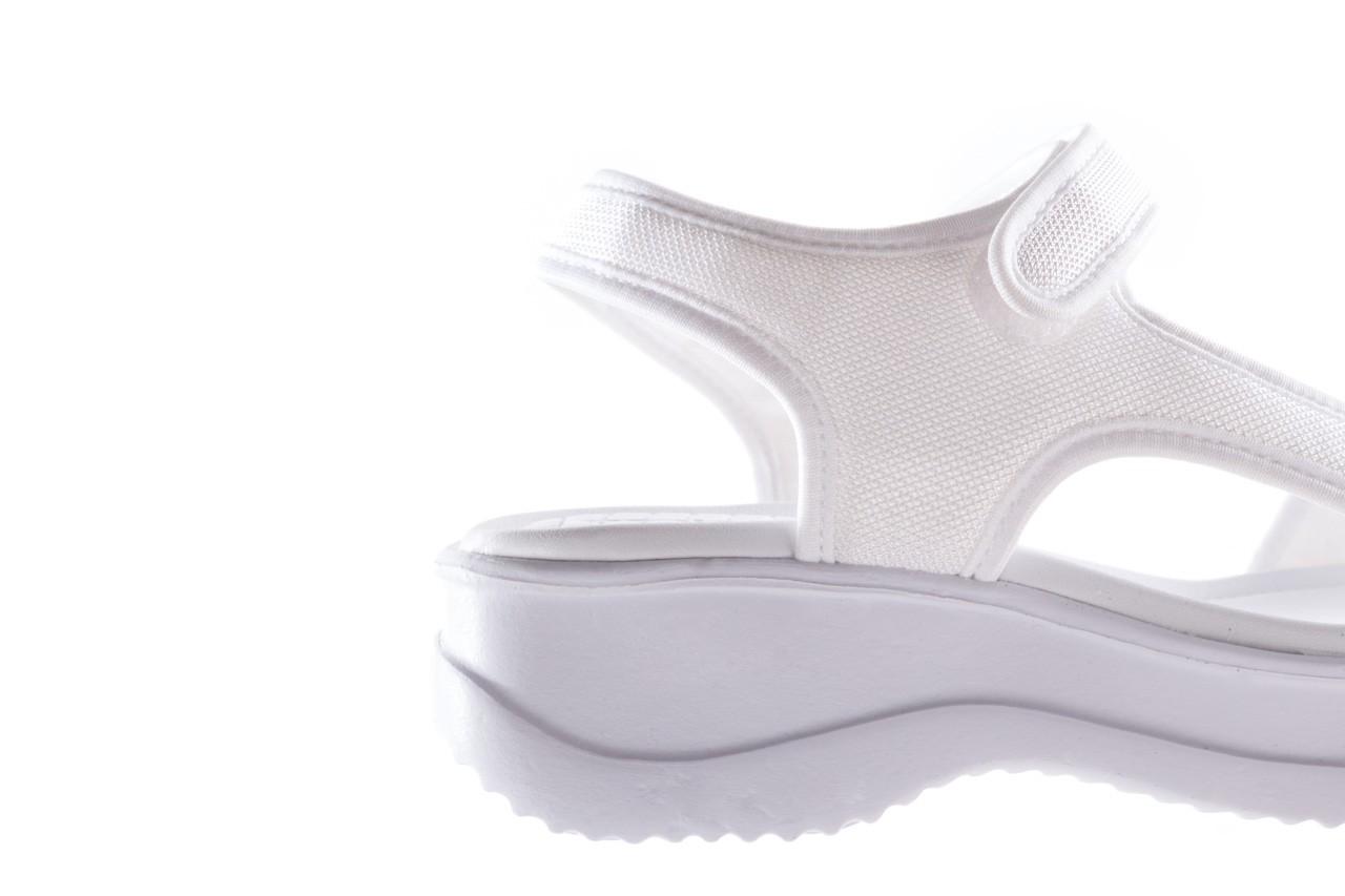 Sandały azaleia 320 323 white 20, białe, materiał - płaskie - sandały - buty damskie - kobieta 13