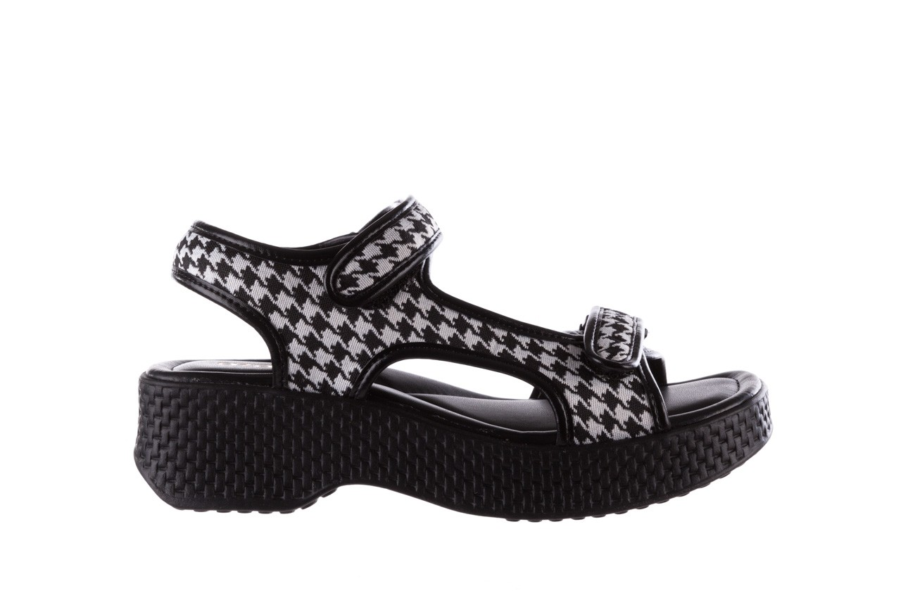 Sandały azaleia 321 295 black plaid, czarny/ biały, materiał - azaleia - nasze marki 7
