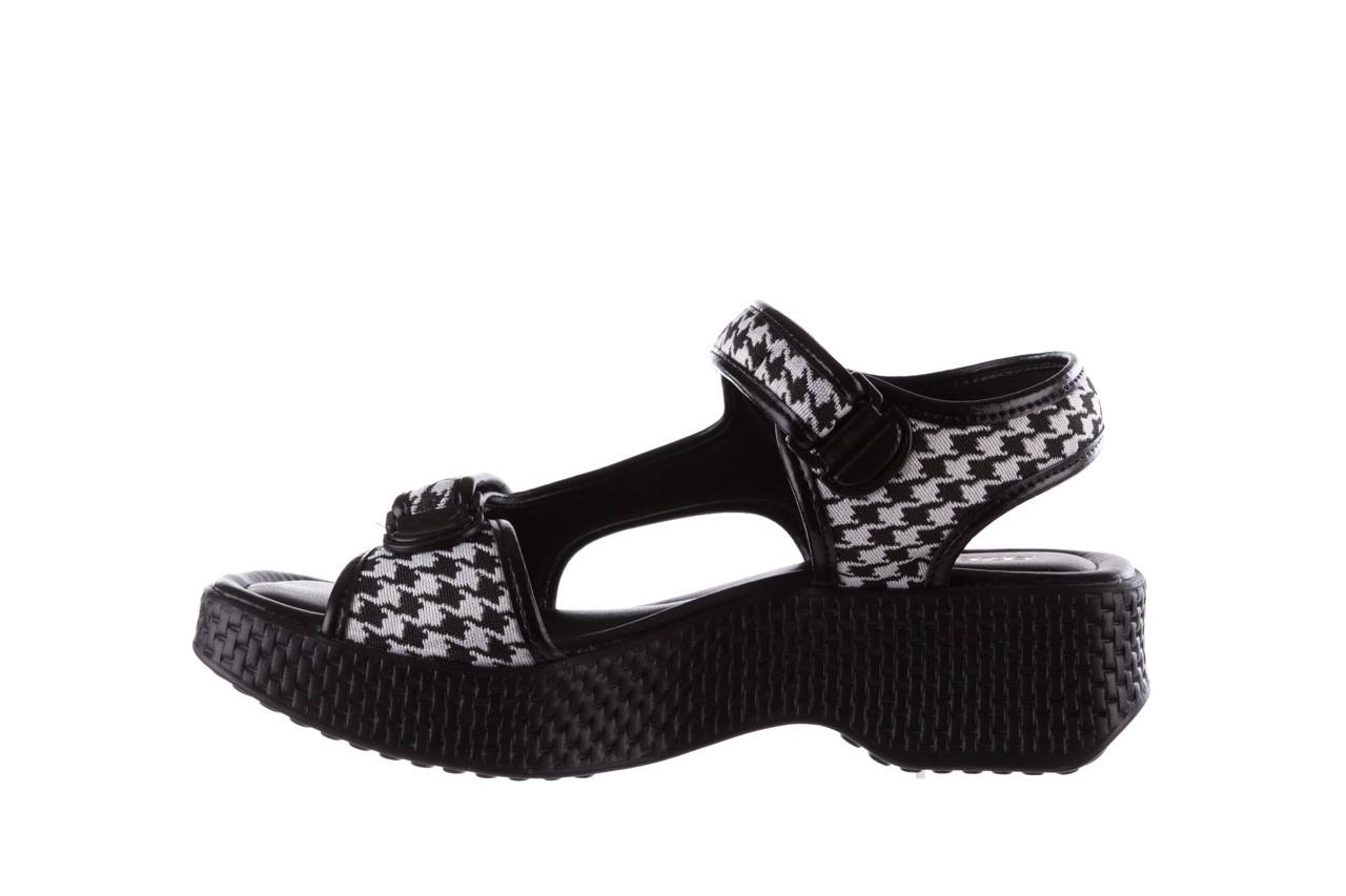 Sandały azaleia 321 295 black plaid, czarny/ biały, materiał - azaleia - nasze marki 9