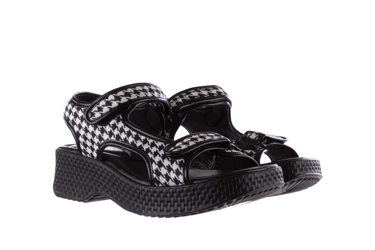 Sandały azaleia 321 295 black plaid, czarny/ biały, materiał - azaleia - nasze marki 8