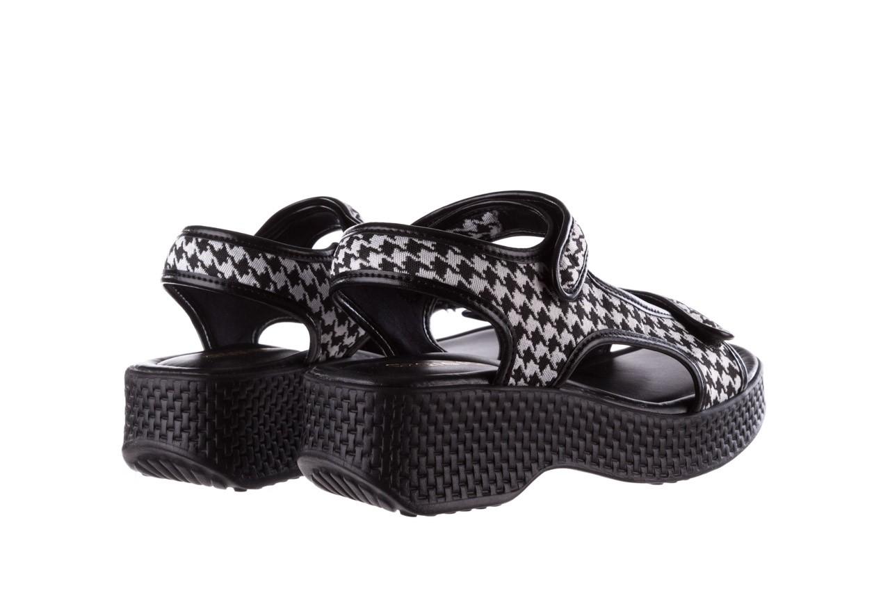 Sandały azaleia 321 295 black plaid, czarny/ biały, materiał - azaleia - nasze marki 10