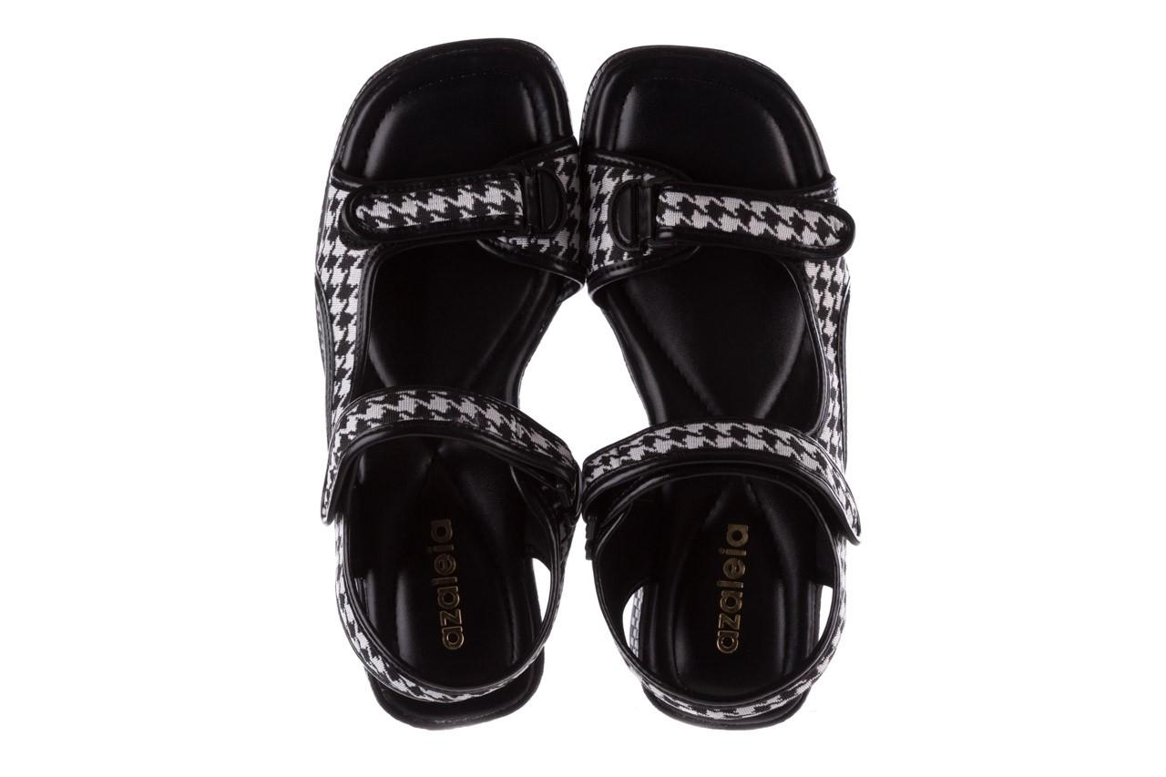 Sandały azaleia 321 295 black plaid, czarny/ biały, materiał - azaleia - nasze marki 11