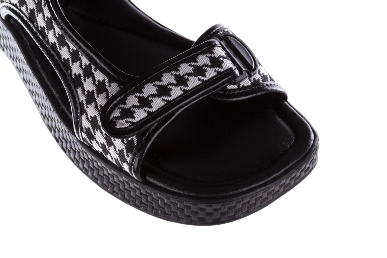 Sandały azaleia 321 295 black plaid, czarny/ biały, materiał - azaleia - nasze marki 12