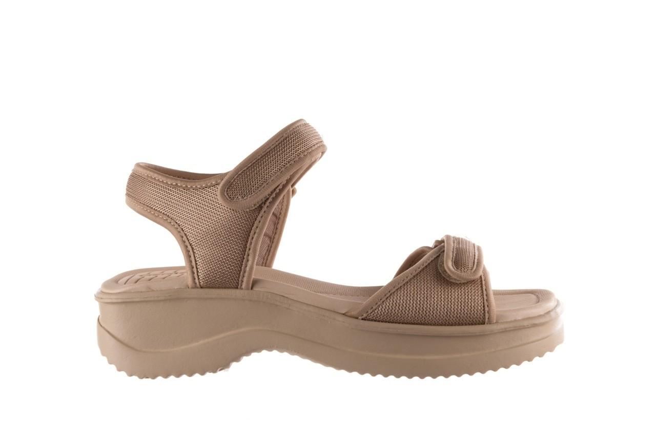 Sandały azaleia 320 321 beige sand 20, beż, materiał - sale 7