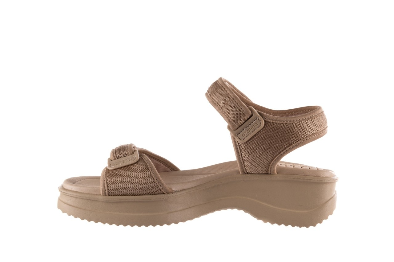Sandały azaleia 320 321 beige sand 20, beż, materiał - sandały - buty damskie - kobieta 9