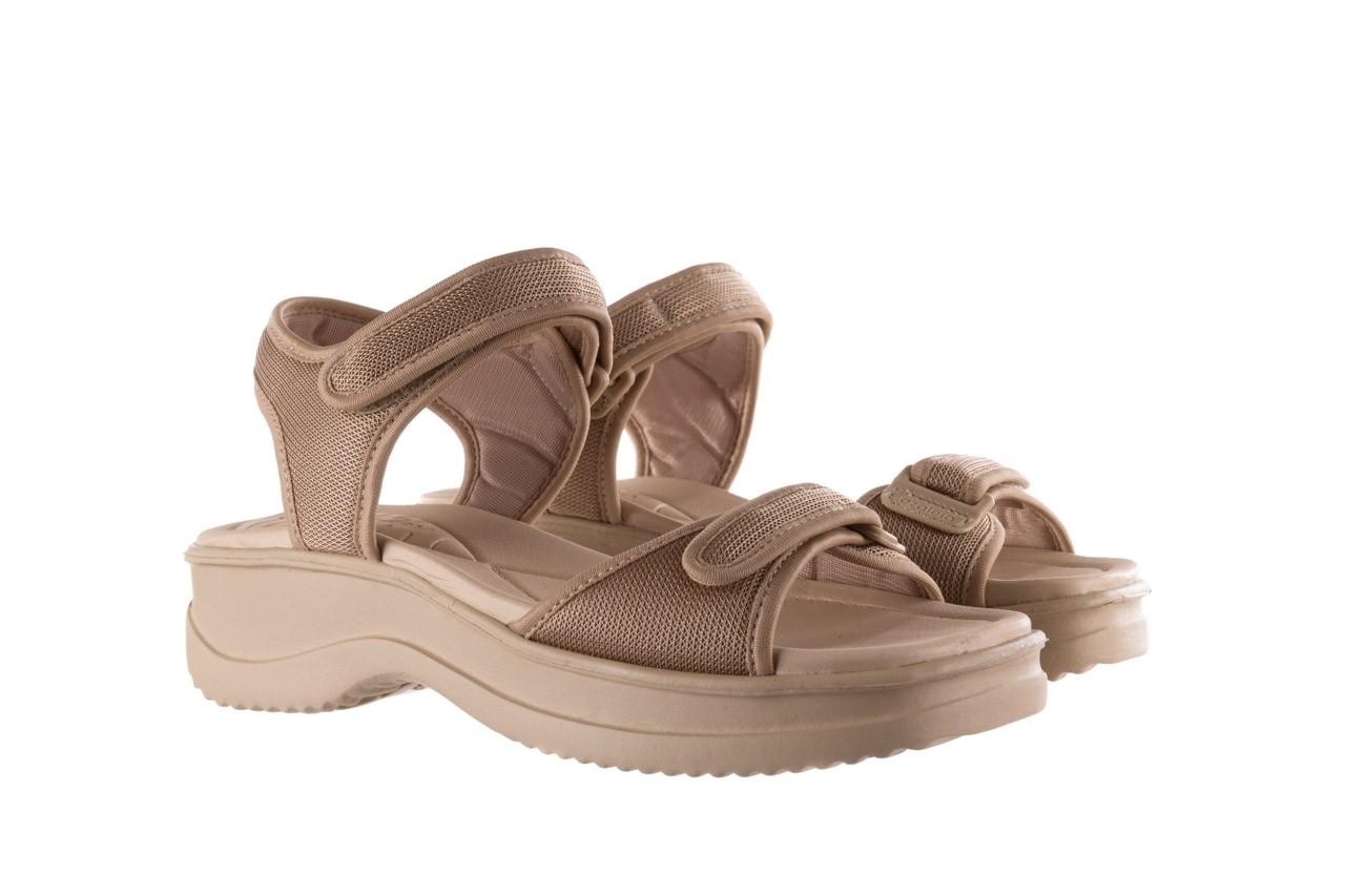 Sandały azaleia 320 321 beige sand 20, beż, materiał - sale 8