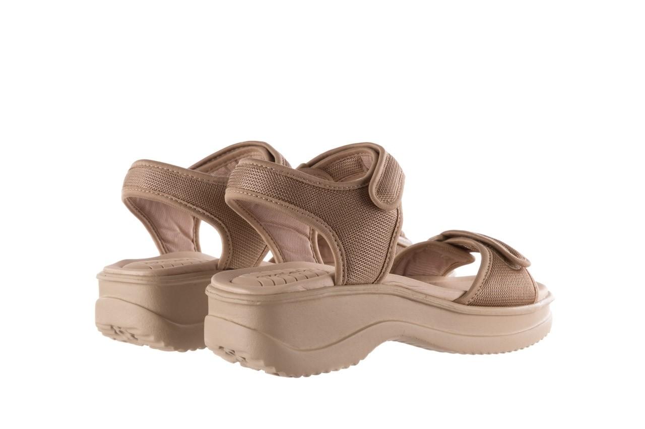 Sandały azaleia 320 321 beige sand 20, beż, materiał - sandały - buty damskie - kobieta 10