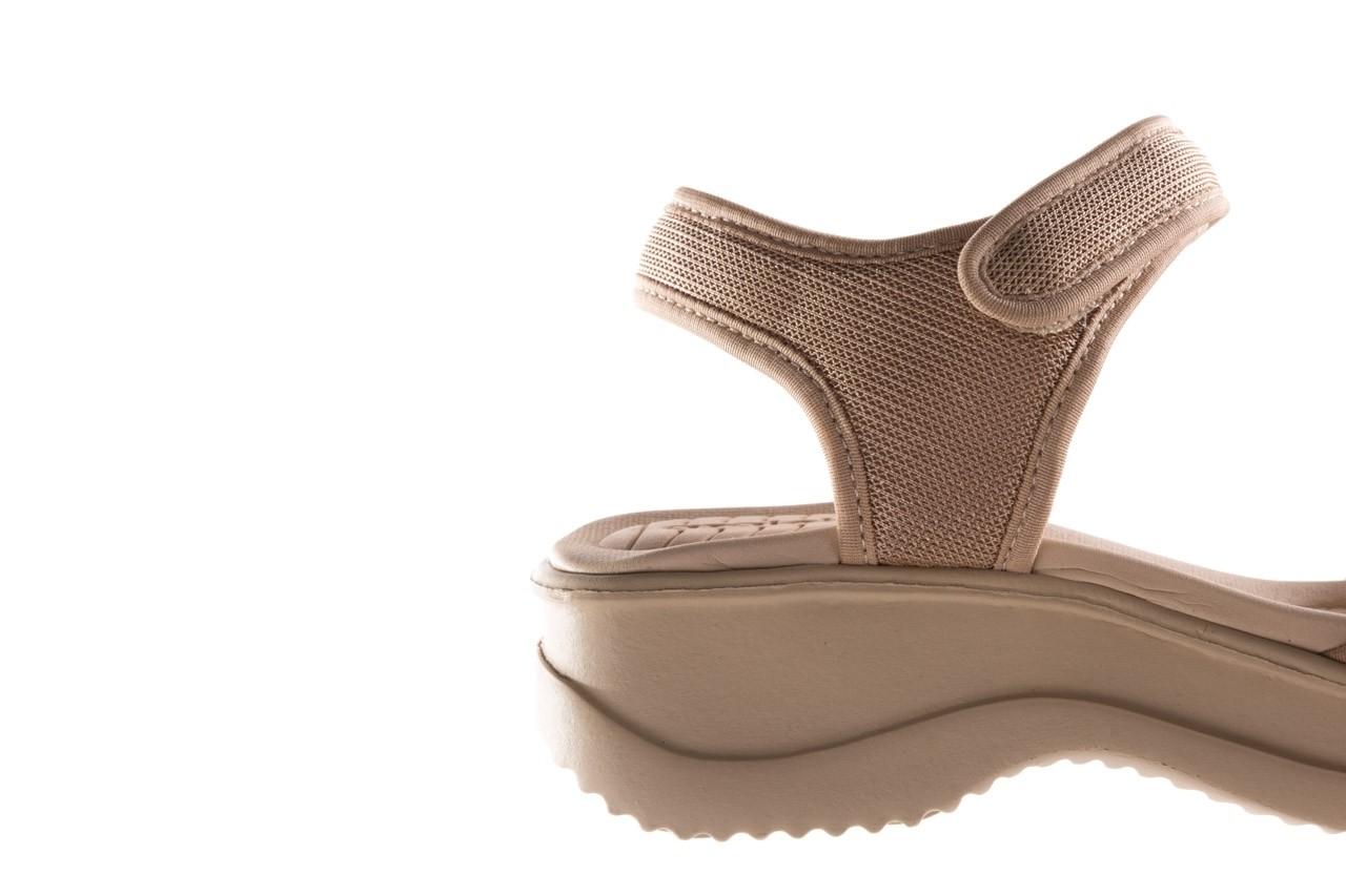 Sandały azaleia 320 321 beige sand 20, beż, materiał - sandały - buty damskie - kobieta 13