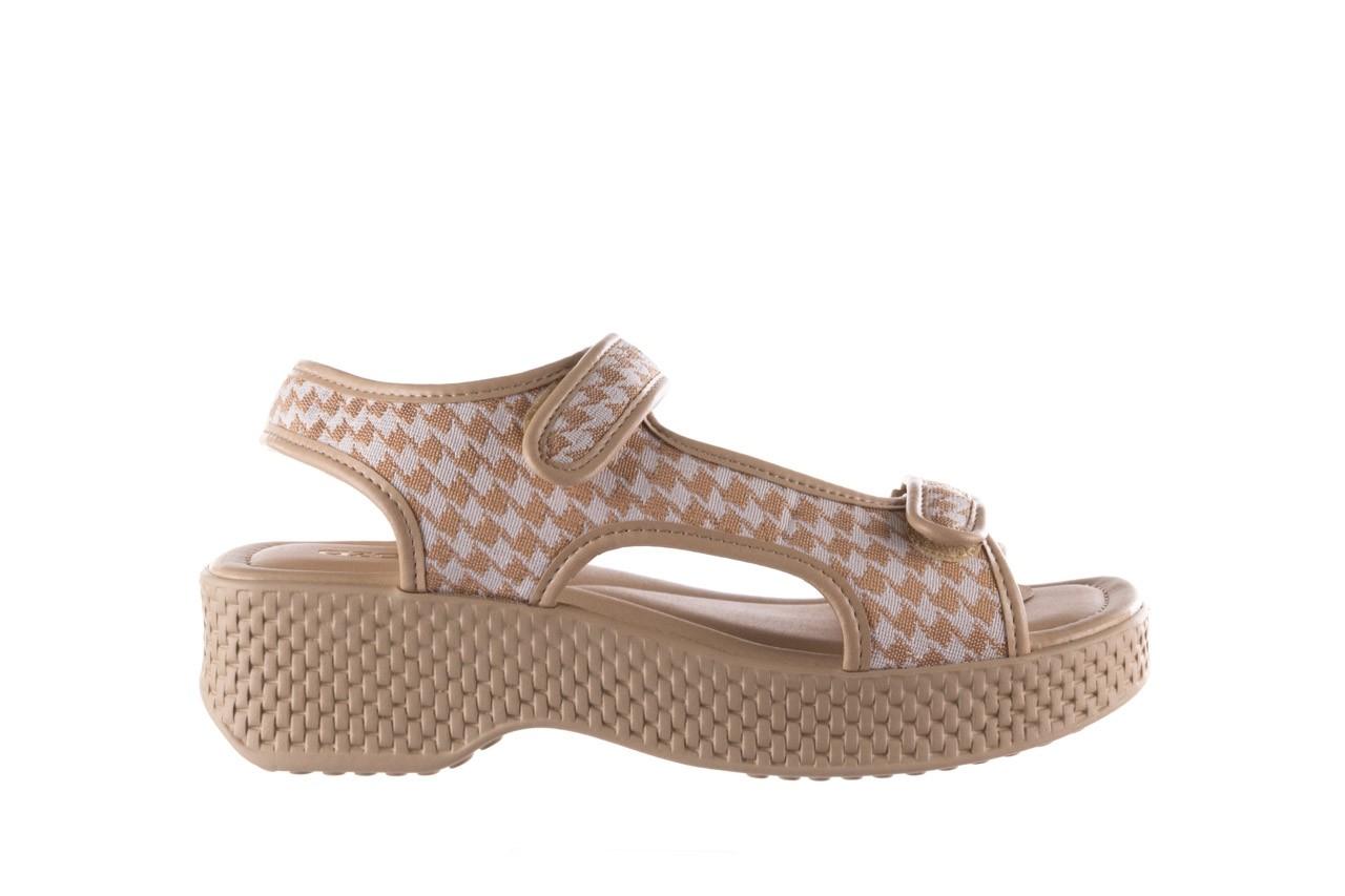 Sandały azaleia 321 295 beige plaid, biały/ beż, materiał - azaleia - nasze marki 7
