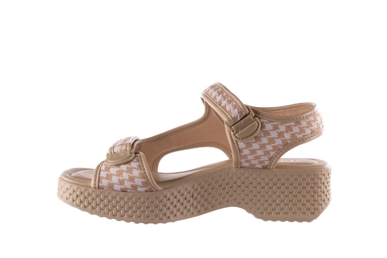 Sandały azaleia 321 295 beige plaid, biały/ beż, materiał - azaleia - nasze marki 9