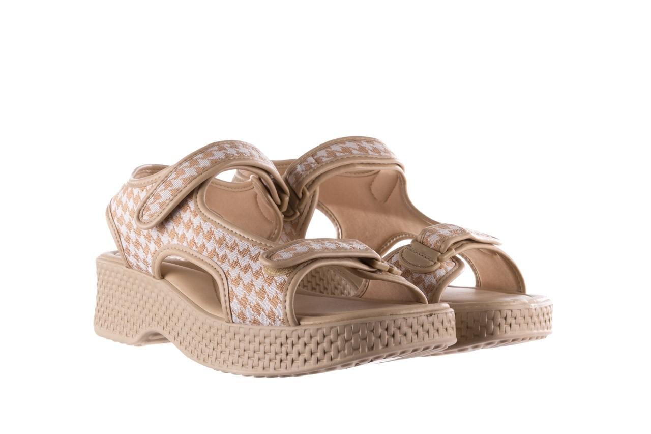 Sandały azaleia 321 295 beige plaid, biały/ beż, materiał - azaleia - nasze marki 8