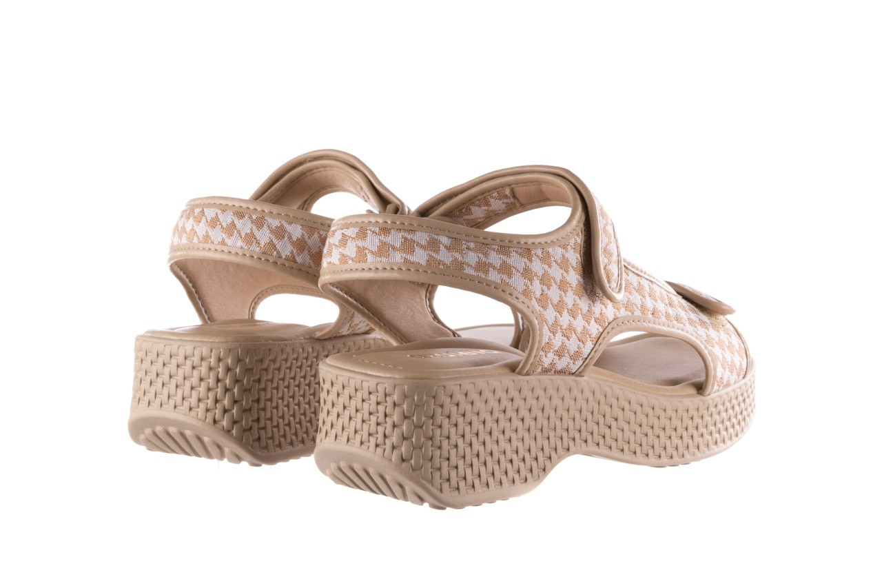 Sandały azaleia 321 295 beige plaid, biały/ beż, materiał - azaleia - nasze marki 10