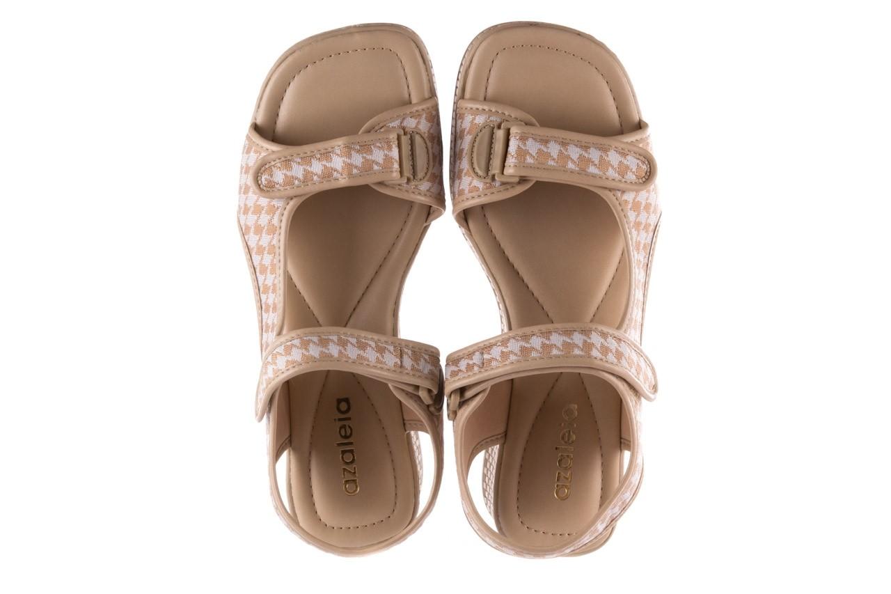 Sandały azaleia 321 295 beige plaid, biały/ beż, materiał - azaleia - nasze marki 11