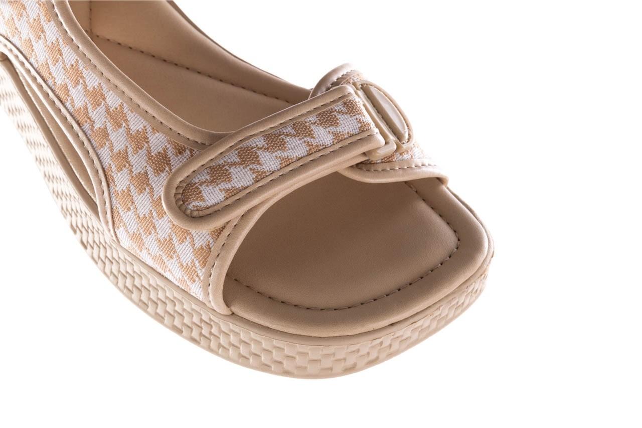 Sandały azaleia 321 295 beige plaid, biały/ beż, materiał - azaleia - nasze marki 12