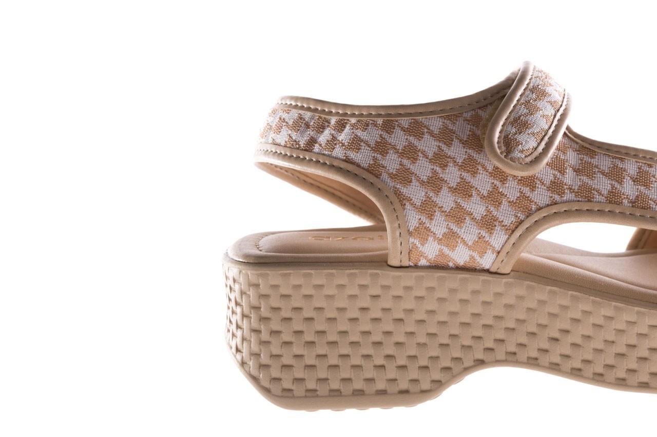 Sandały azaleia 321 295 beige plaid, biały/ beż, materiał - azaleia - nasze marki 13