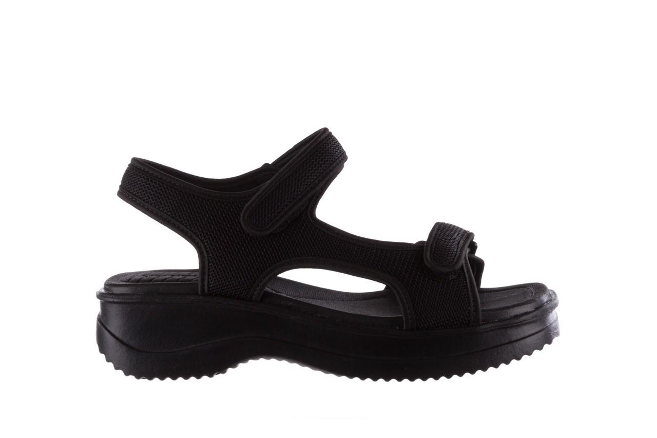 Sandały azaleia 320 323 black black 20, czarny, materiał - sale 7