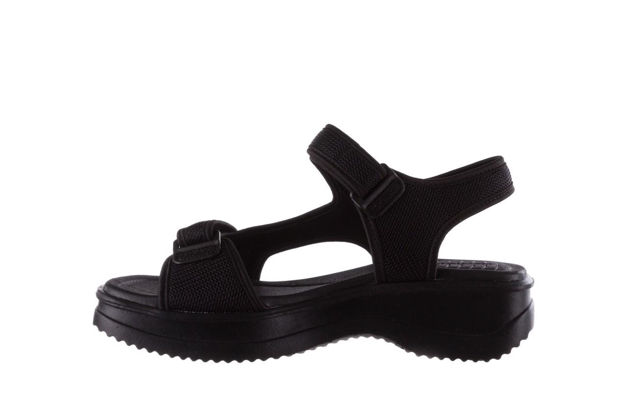 Sandały azaleia 320 323 black black 20, czarny, materiał - sale 9