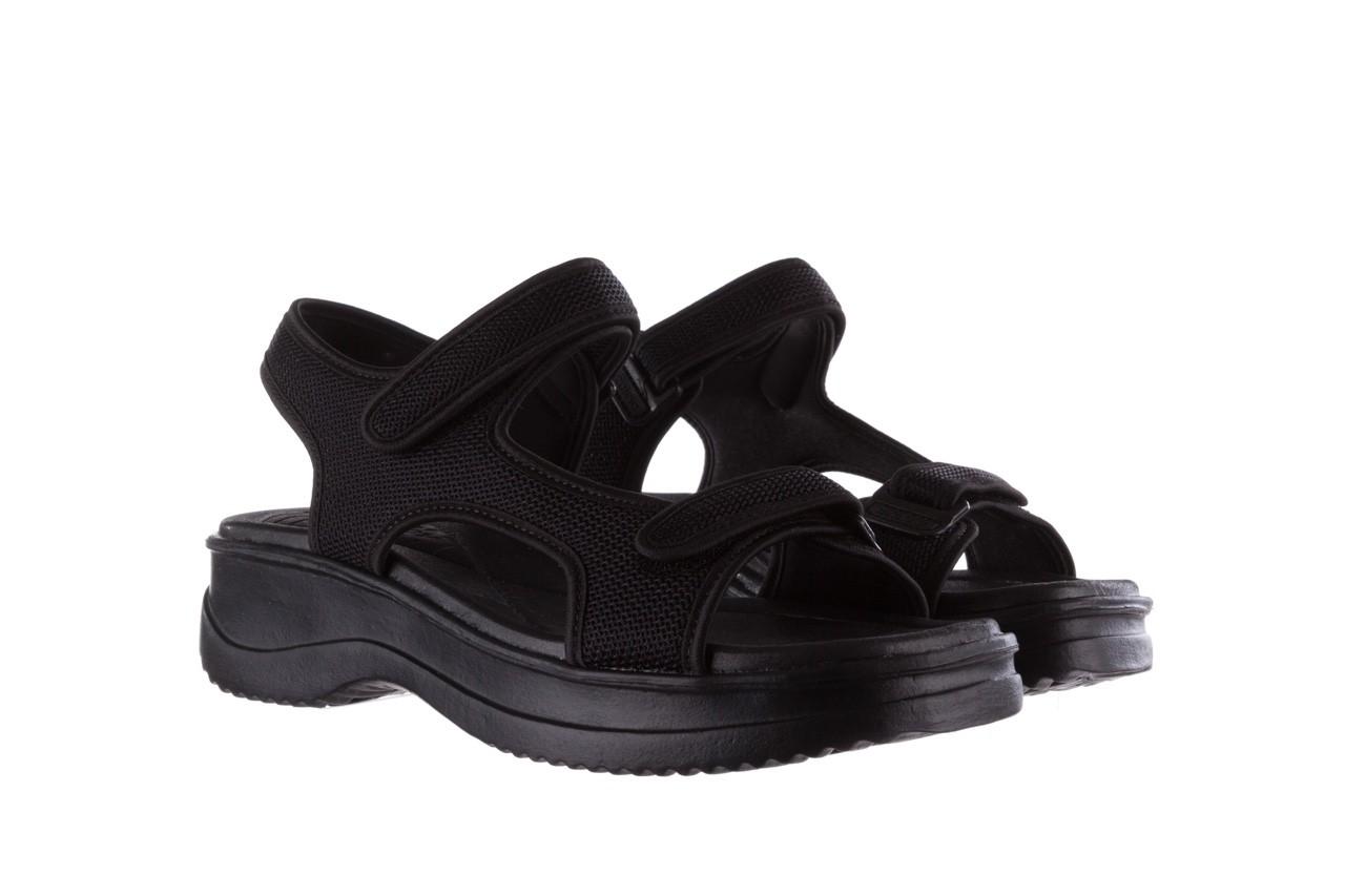 Sandały azaleia 320 323 black black 20, czarny, materiał - sale 8