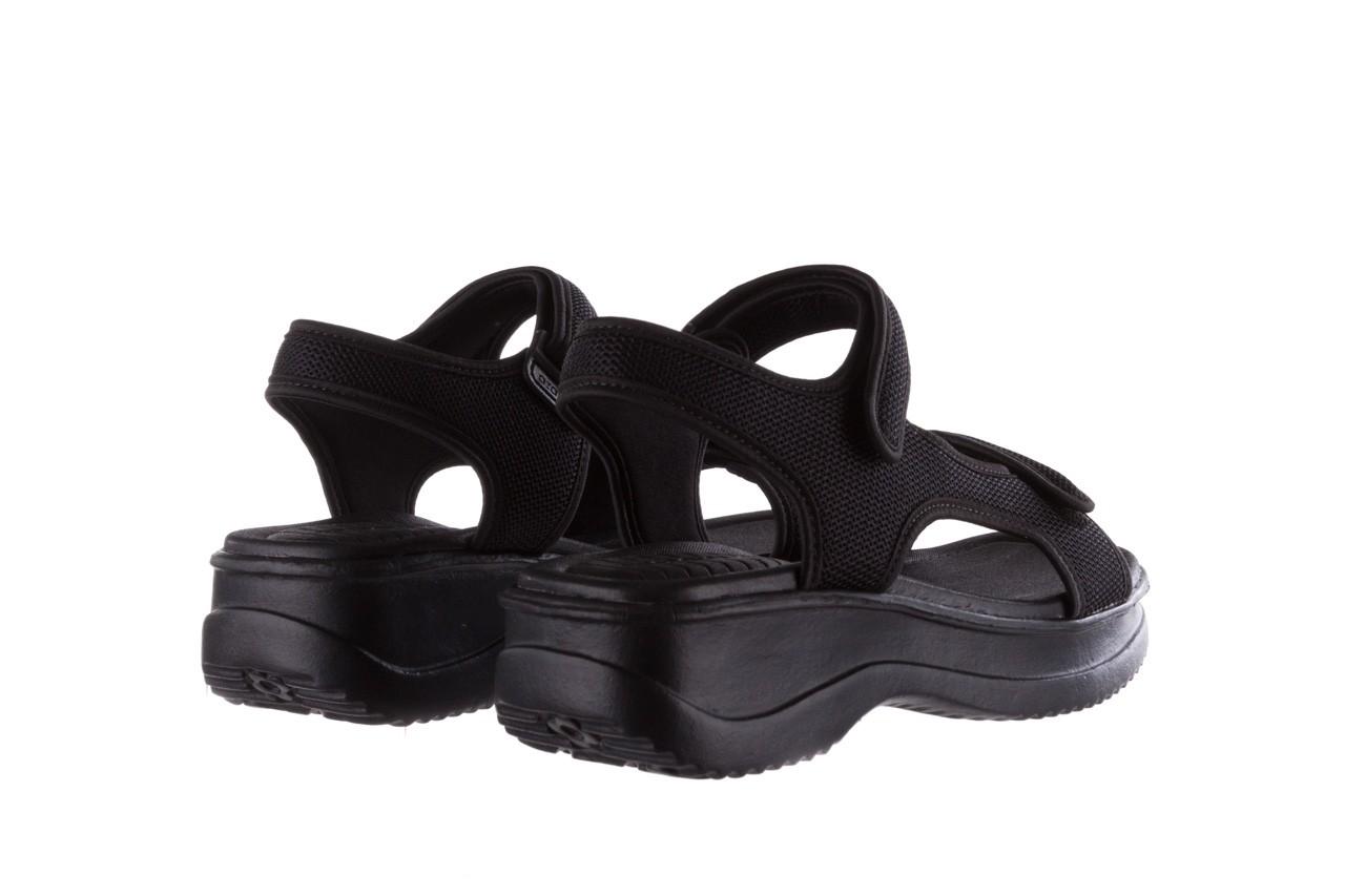 Sandały azaleia 320 323 black black 20, czarny, materiał - sale 10