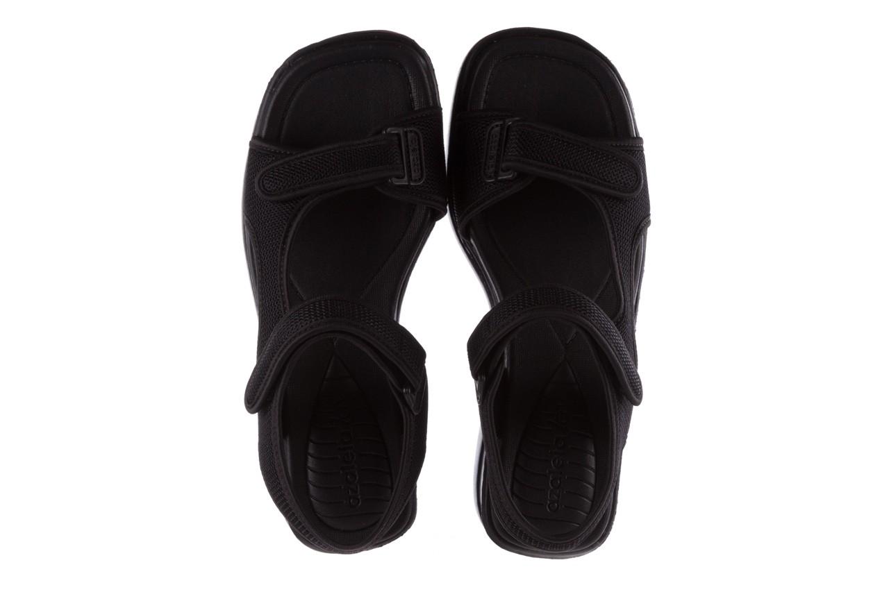 Sandały azaleia 320 323 black black 20, czarny, materiał - sale 11