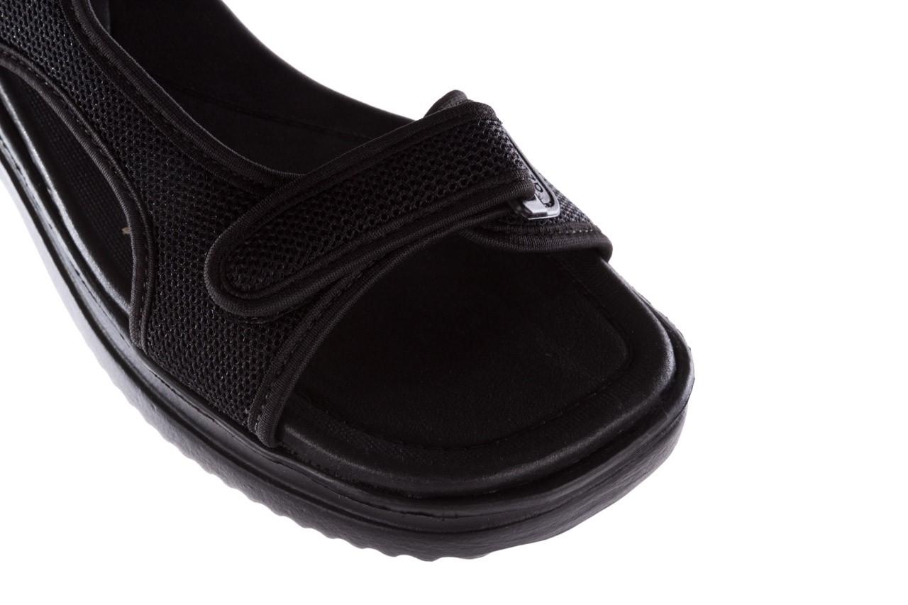 Sandały azaleia 320 323 black black 20, czarny, materiał - sale 12