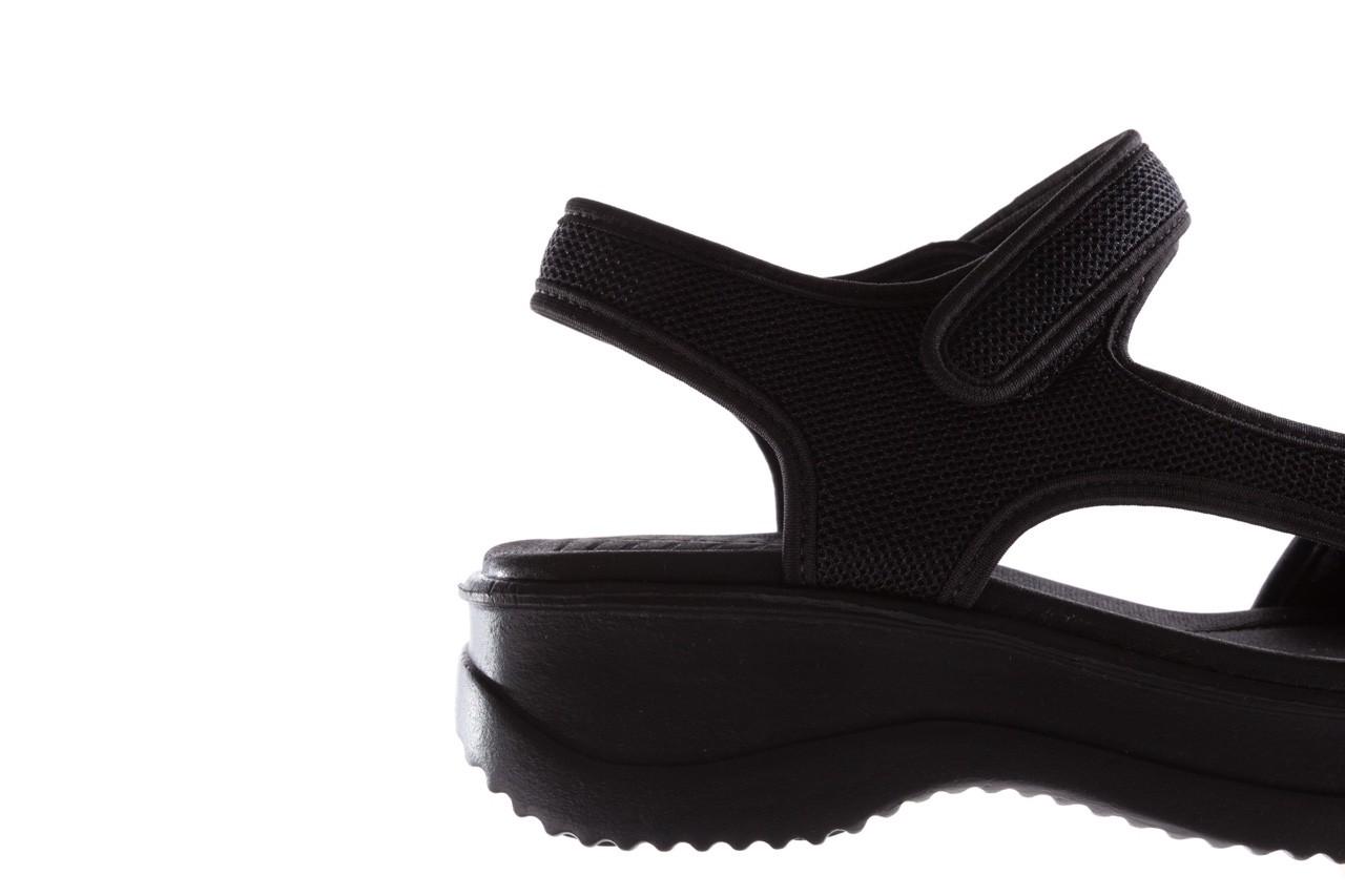 Sandały azaleia 320 323 black black 20, czarny, materiał - sale 13
