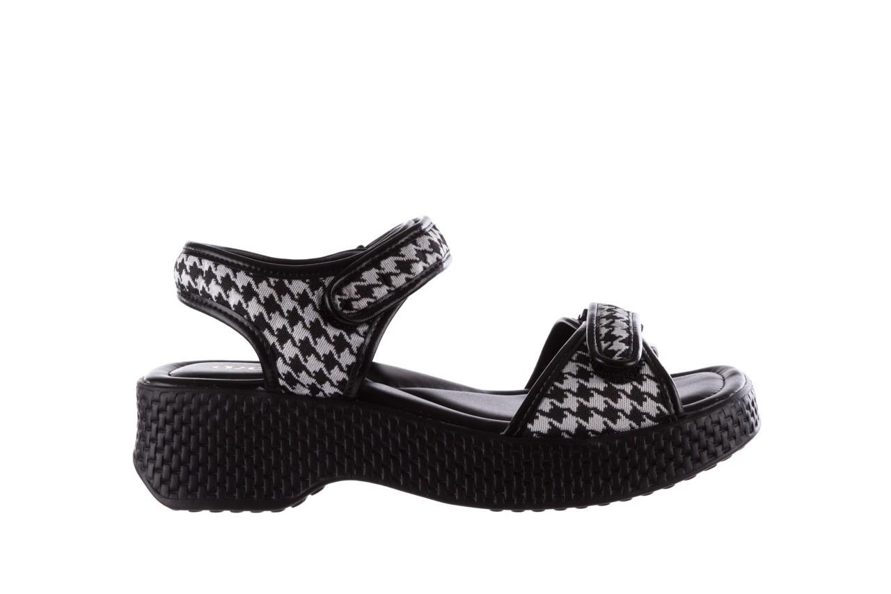 Sandały azaleia 321 293 black plaid, czarny/ biały, materiał - azaleia - nasze marki 7