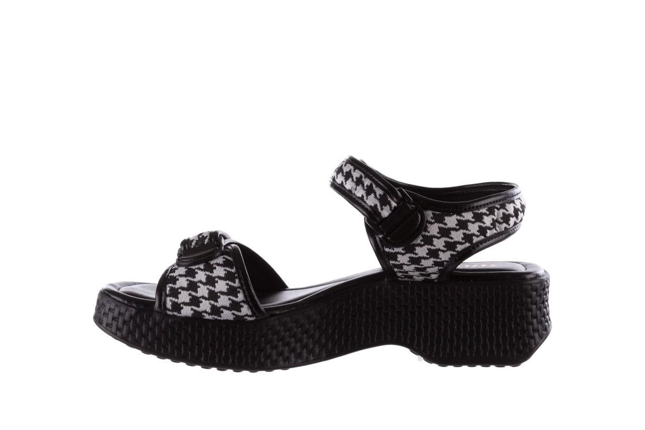 Sandały azaleia 321 293 black plaid, czarny/ biały, materiał - azaleia - nasze marki 9