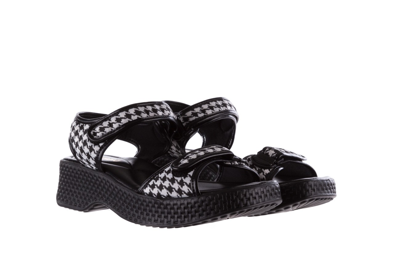 Sandały azaleia 321 293 black plaid, czarny/ biały, materiał - azaleia - nasze marki 8