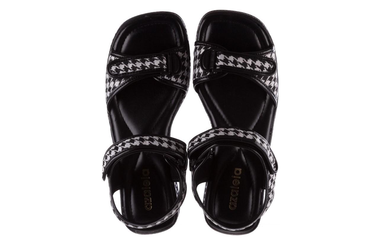 Sandały azaleia 321 293 black plaid, czarny/ biały, materiał - azaleia - nasze marki 11