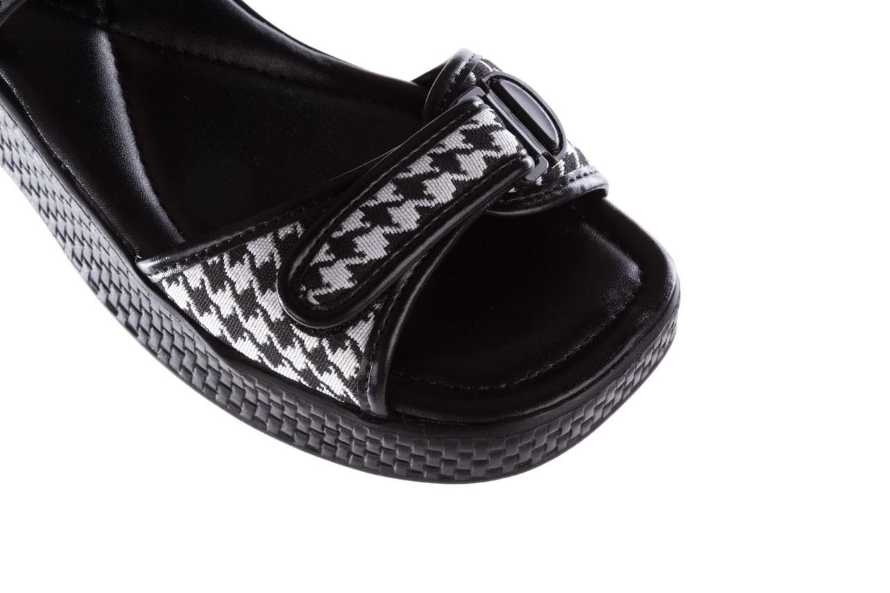 Sandały azaleia 321 293 black plaid, czarny/ biały, materiał - azaleia - nasze marki 13