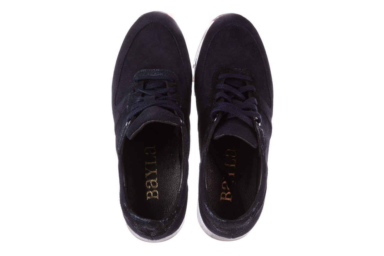 Sneakersy bayla-185 185 106 granat, skóra naturalna  - sneakersy - buty damskie - kobieta 12