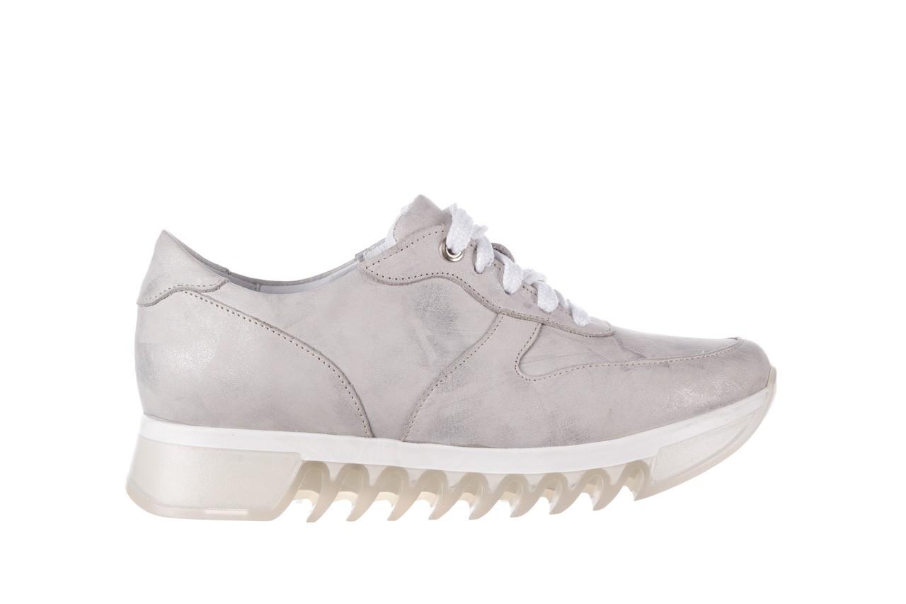 Sneakersy bayla-185 185 105 srebrny, skóra naturalna  - sneakersy - buty damskie - kobieta 8