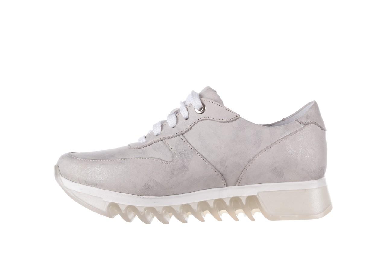 Sneakersy bayla-185 185 105 srebrny, skóra naturalna  - sneakersy - buty damskie - kobieta 10