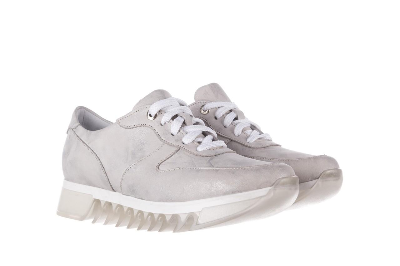 Sneakersy bayla-185 185 105 srebrny, skóra naturalna  - bayla - nasze marki 9