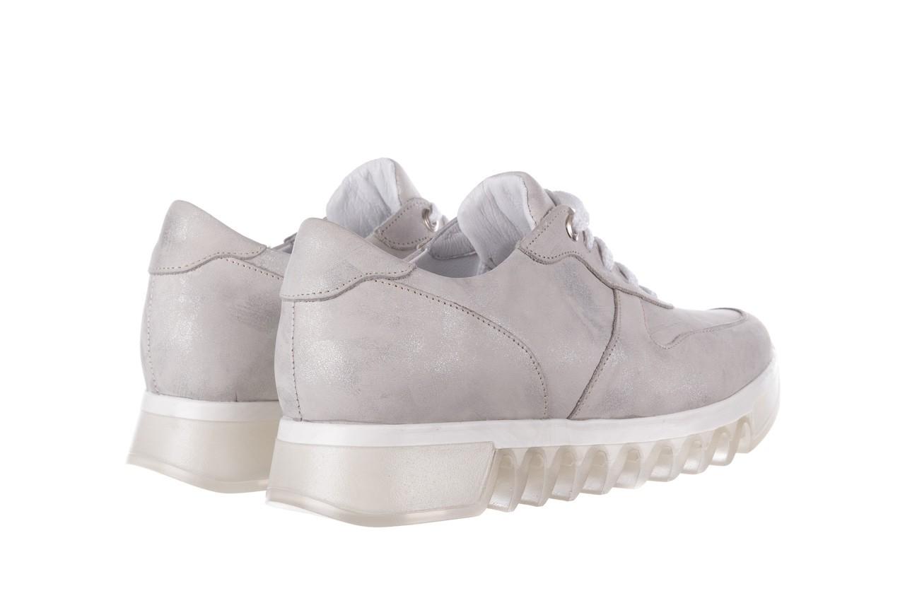 Sneakersy bayla-185 185 105 srebrny, skóra naturalna  - bayla - nasze marki 11